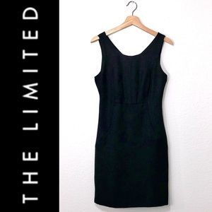 The Limited Black Textured Sheath Dress